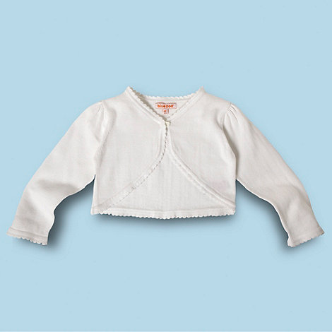 bluezoo - Girl+s white cropped cardigan