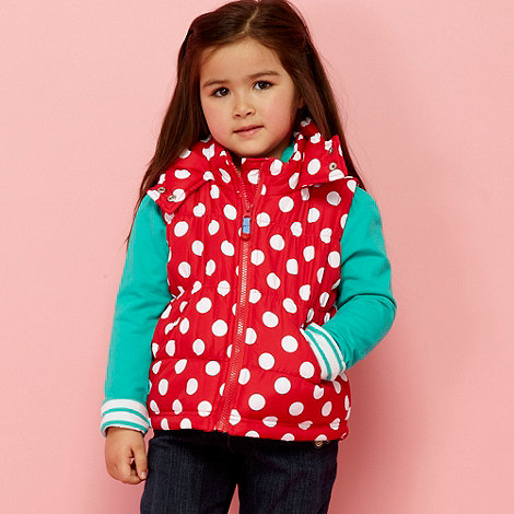 bluezoo - Girl+s red spotty gilet