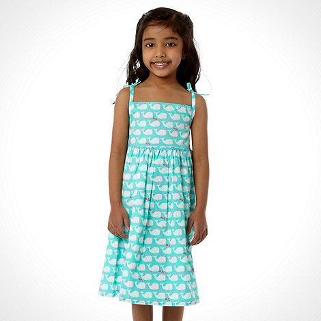 bluezoo - Girl+s aqua whale dress