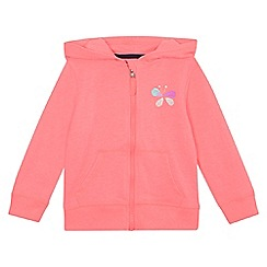 bluezoo - Girls' pink butterfly print hoodie