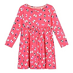bluezoo - Girls' pink ladybird print dress