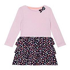bluezoo - Girls' purple floral print jersey dress