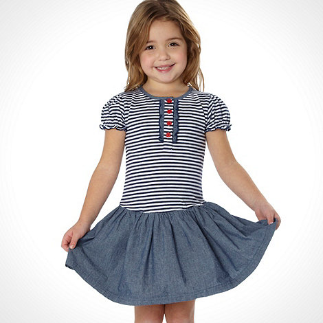 bluezoo - Girl+s navy striped dress