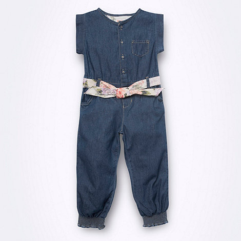 bluezoo - Girl+s blue denim jumpsuit