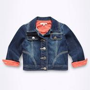 Girl's dark blue denim jacket