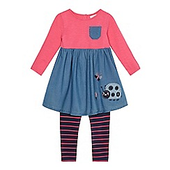 bluezoo - Girls' blue striped tunic and leggings set
