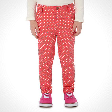 bluezoo - Girl+s light red spotty jeans