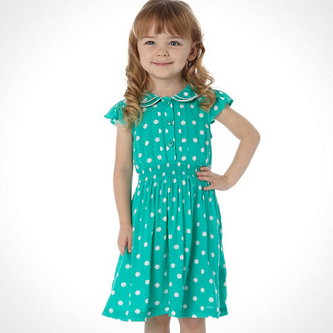 bluezoo - Girl+s green spotted day dress