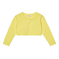 bluezoo - Girls' yellow scalloped cardigan