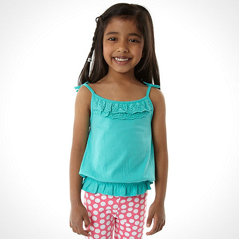 bluezoo - Girl+s pack of two multi strappy vests