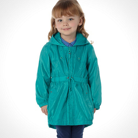 bluezoo - Girl+s light green hooded parka