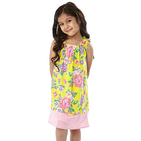 bluezoo - Girl+s bright yellow floral dress