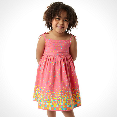 bluezoo - Girl+s pink spotted dress