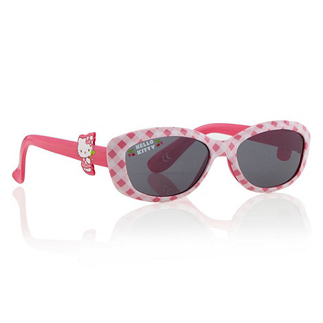 Hello Kitty - Girls+ pink gingham +Hello Kitty+ sunglasses