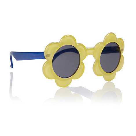 bluezoo - Girl+s yellow flower frame sunglasses