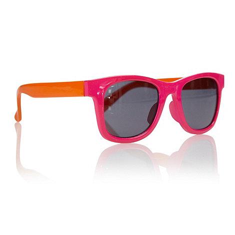bluezoo - Girls+ pink neon D-framed sunglasses