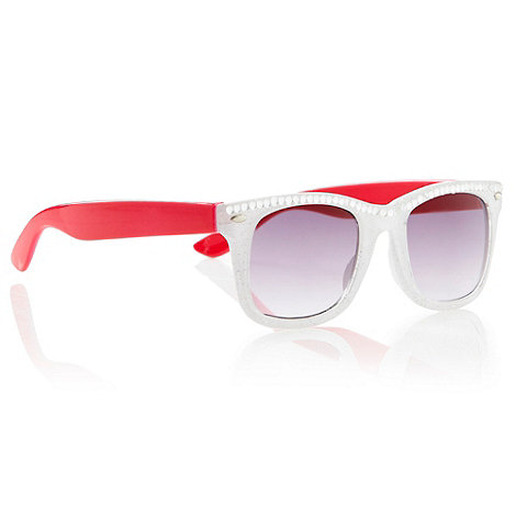 bluezoo - Girl+s white two tone diamante sunglasses