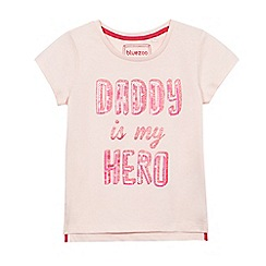 bluezoo - Girls' pink 'Daddy Is My Hero' t-shirt