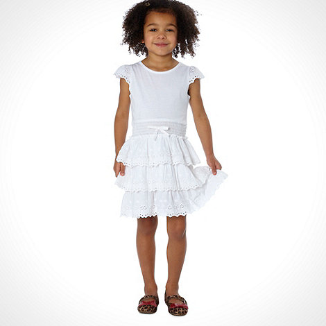 bluezoo - Girl+s white broiderie dress