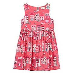 bluezoo - Girls' pink house print dress