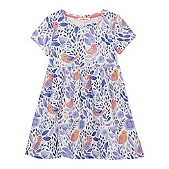 bluezoo - Girls' multi-coloured floral bird print dress