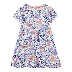 bluezoo - Girls' multi-coloured floral bird print dress
