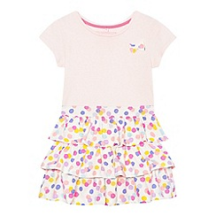 bluezoo - Girls' pink spotted print rara dress