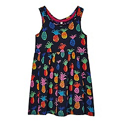 bluezoo - Girls' navy pineapple print dress