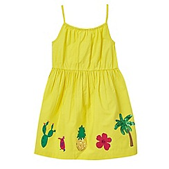bluezoo - Girls' yellow sequined embellished dress
