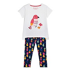 bluezoo - Girls' pink assorted print top and leggings set