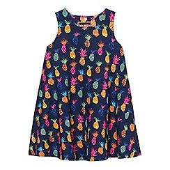 bluezoo - Girls' multi-coloured pineapple print dress