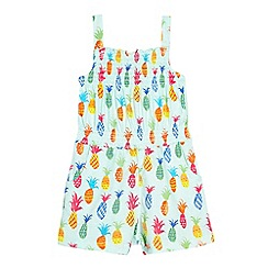 bluezoo - Girl's light green pineapple print playsuit