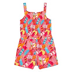 bluezoo - Girls pink ice lolly print playsuit