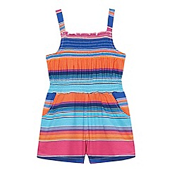 bluezoo - Girls' multi-coloured striped playsuit