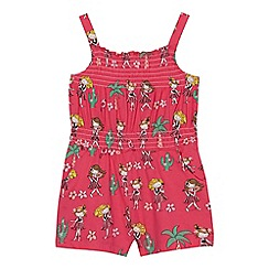 bluezoo - Baby girls' pink hula girl print playsuit