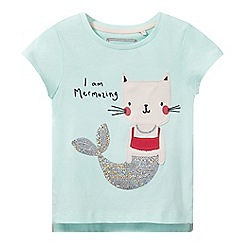 bluezoo - Girls' aqua applique t-shirt