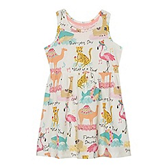 bluezoo - Girls' multi-coloured animal print jersey dress