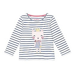 bluezoo - Girls' white princess cat print top