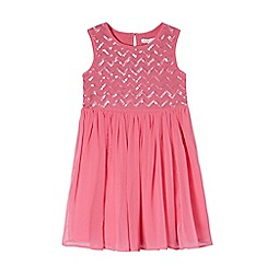 bluezoo - Girls' pink sequinned detail dress