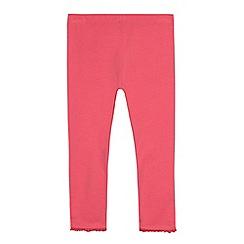 bluezoo - Girls' pink frill trim leggings