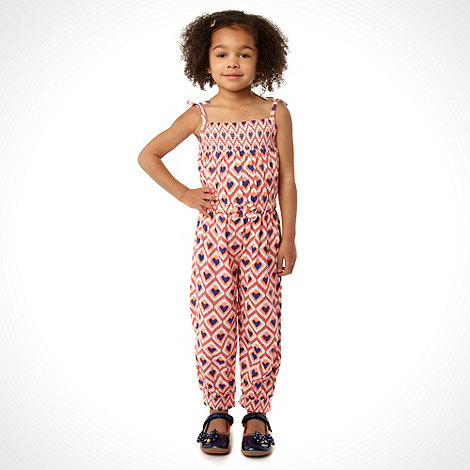 bluezoo - Girl+s multi aztec print jumpsuit