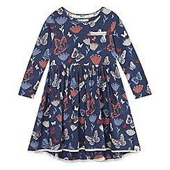 Mantaray - Blue butterfly print dress