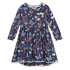 Mantaray - Blue butterfly print dress