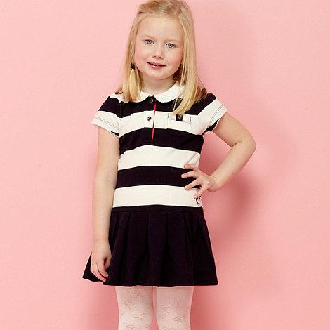 J by Jasper Conran - Designer girl+s navy striped pique tennis dress