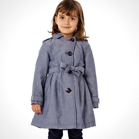 J by Jasper Conran - Designer girl+s blue chambray mac