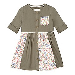 Mantaray - Girls' khaki floral print insert dress