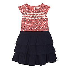 Mantaray - Girls' 'Rara' navy mock dress