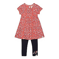 Mantaray - Girls' red floral print tunic dress