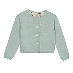Mantaray - Girls' green lace trim cardigan