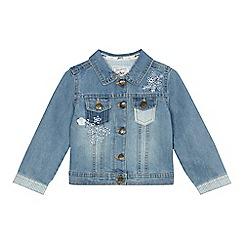Mantaray - Girls' blue patchwork denim jacket